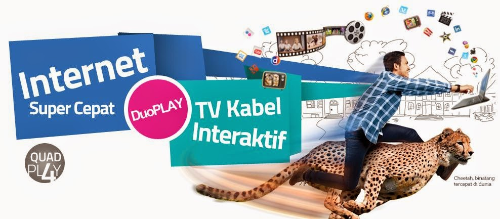 Innovate Layanan Internet Super Cepat 100 Mbps Paket Murah Duo Play TV Kabel