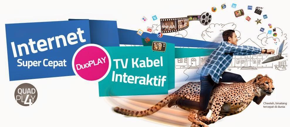Innovate Layanan Internet Super Cepat 100 Mbps Paket Murah Duo Play TV Kabel