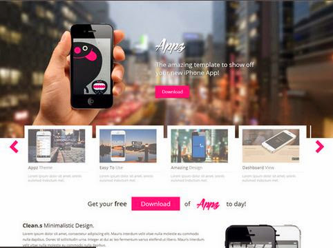 Appz Single Page Responsive HTML5 Template
