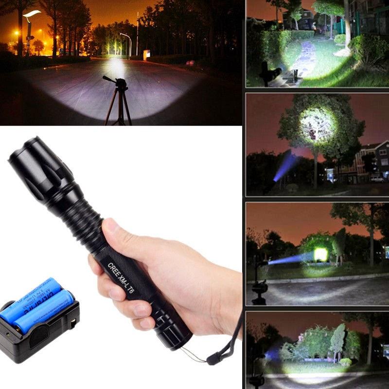UltraFire 2200 Lumen CREE XM-L T6 LED Zoomable Focus Flashlight Torch Lamp Light