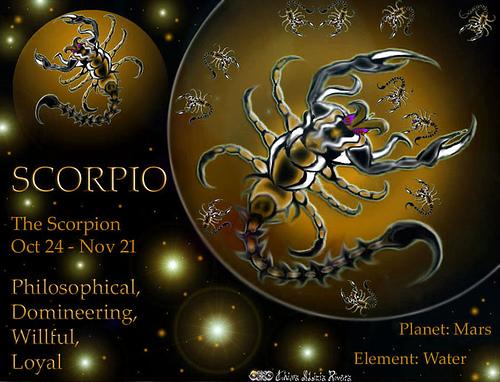 And scorpio scorpio Pisces and