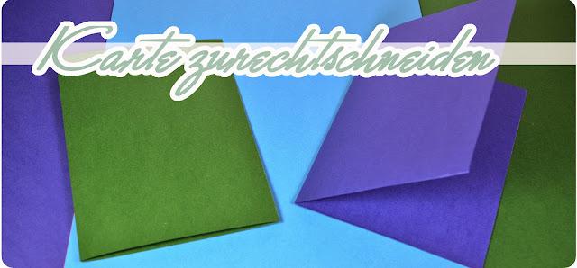 DIY Grußkarten für Weihnachten - Karte zurechtschneiden