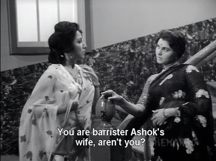 You are barrister Ashok's wife, aren't you?
