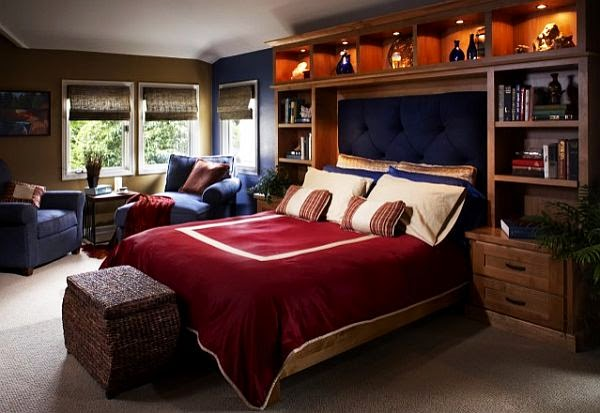 Teenage boys bedroom retreat  Modern bedroom retreat by Harrell Remodeling  from Mountain View  California  Totally in love with the tuffed headboard. homedesignew  Teenage Boys Rooms Inspiration  29 Brilliant Ideas