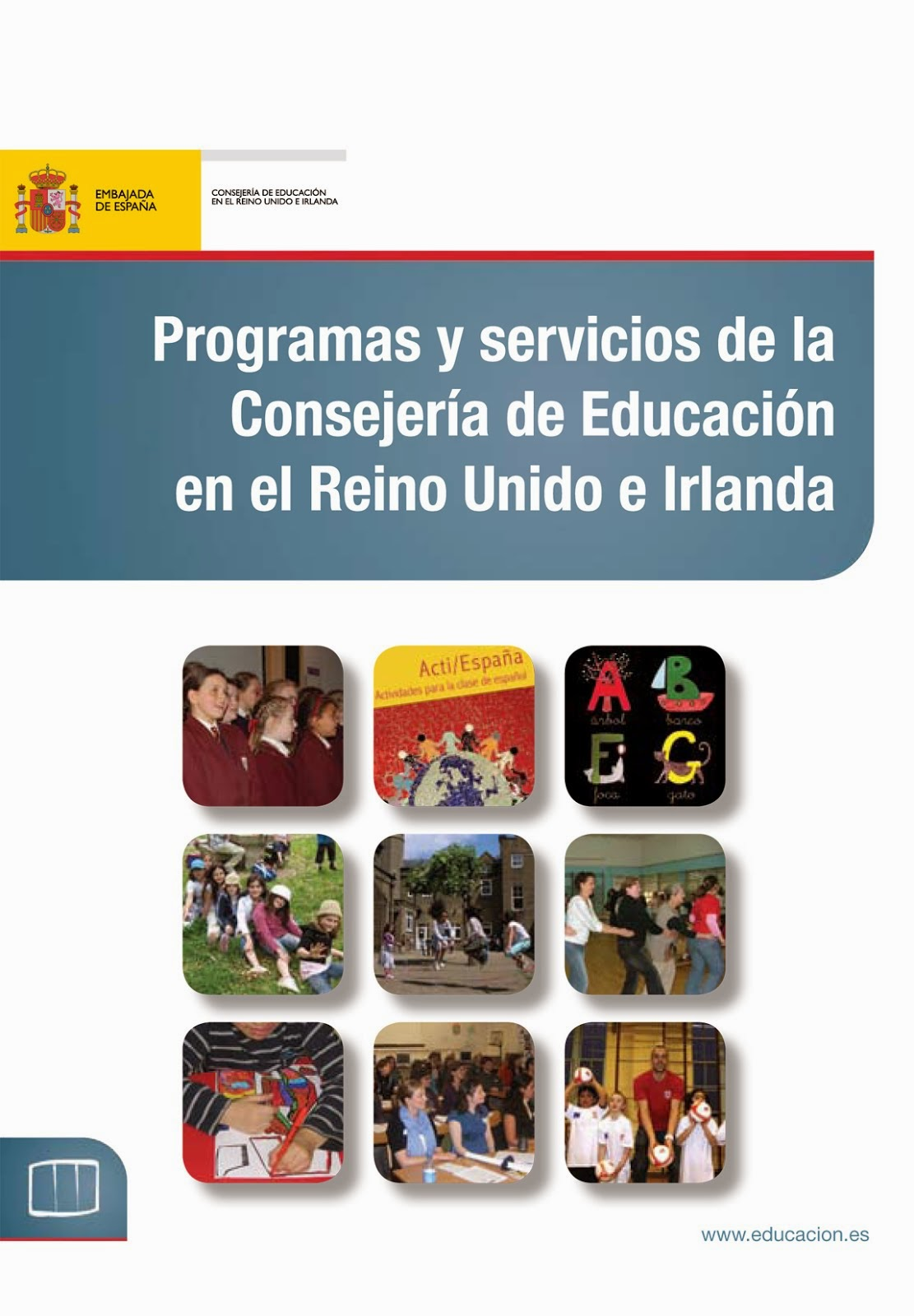 Resource centres of the Consejería de Educación in the UK