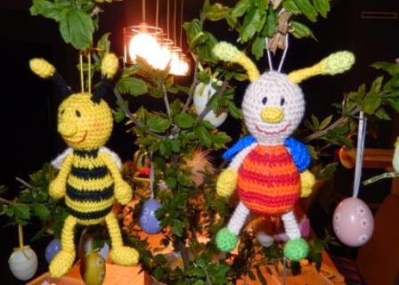 Gratis haakpatroon funny bee en funny beetle