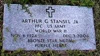 Arthur Stancel Grave - HeadStone