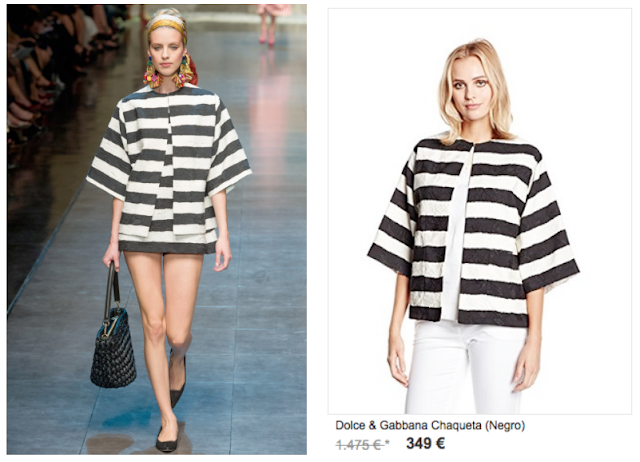 Comparativa Dolce & Gabanna pasarela y promoción en Style de Luxe Amazon Buy-Vip nov 2015
