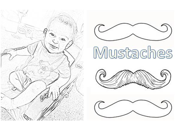 mustache coloring pages - coloring pages of mustaches