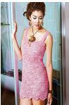 Solero rosa ganchillo