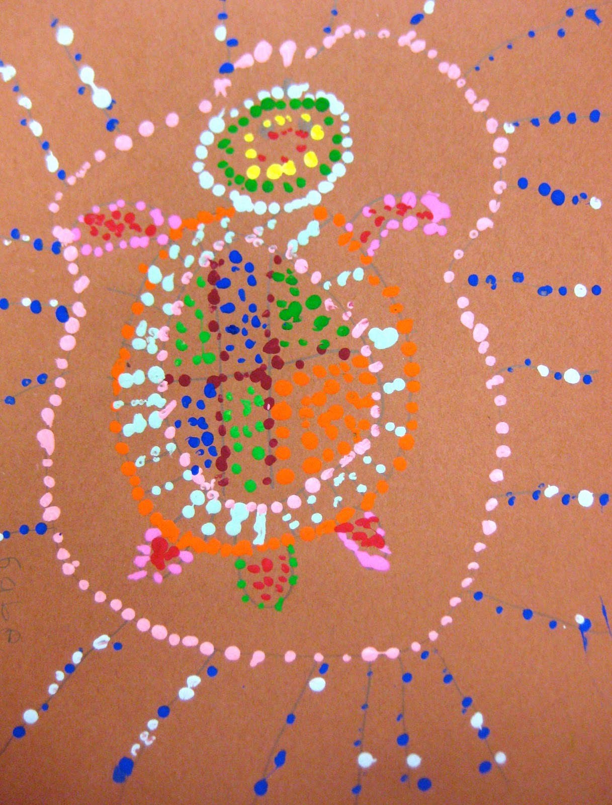 Aboriginal Dot Paintings Animals http://experimentsinarteducation.blogspot.com/2011/12/aboriginal-dot-painting.html