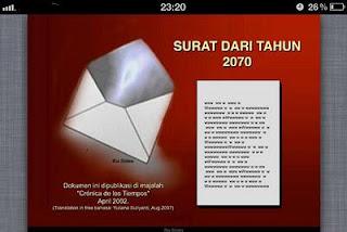 surat mengharukan dari seorang yang mengaku dari tahun 2070