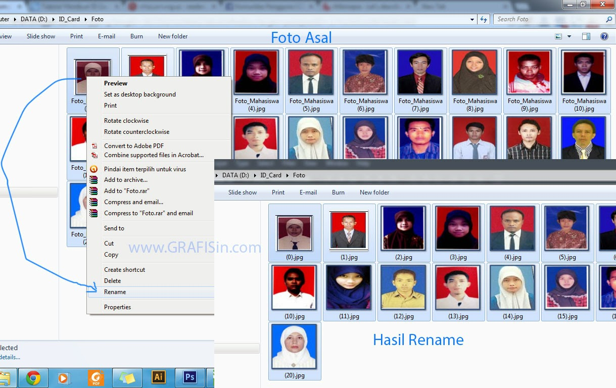 Mengganti Nama Foto Untuk Kartu Mahasiswa