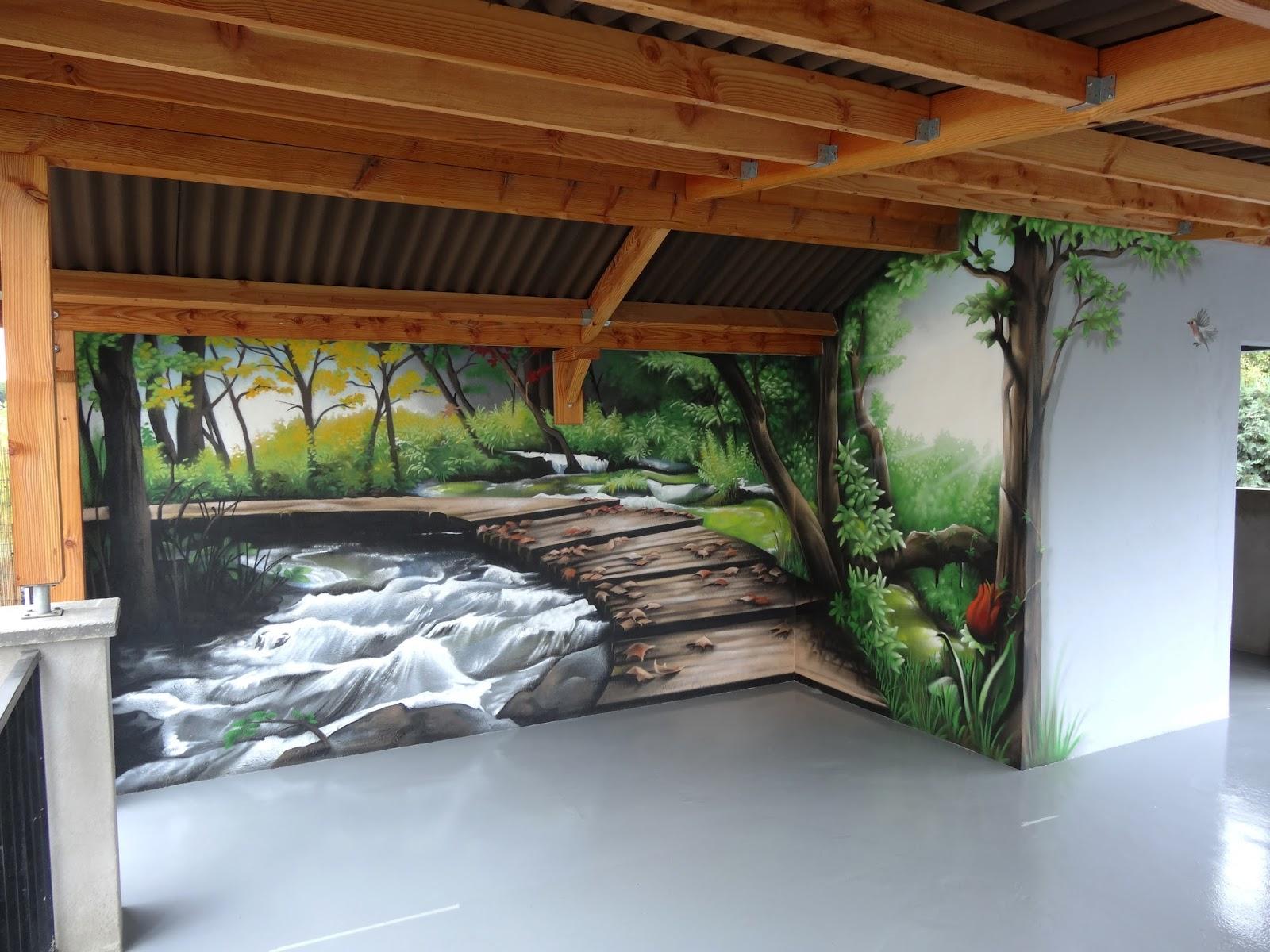 Gimus d coration graffiti terrasse en trompe l 39 oeil Decoration trompe l oeil