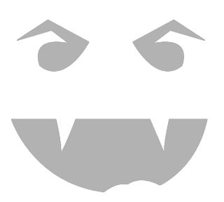 вампирский шаблон тыквы