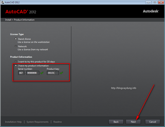 AutoCAD 2012 Setup step 3