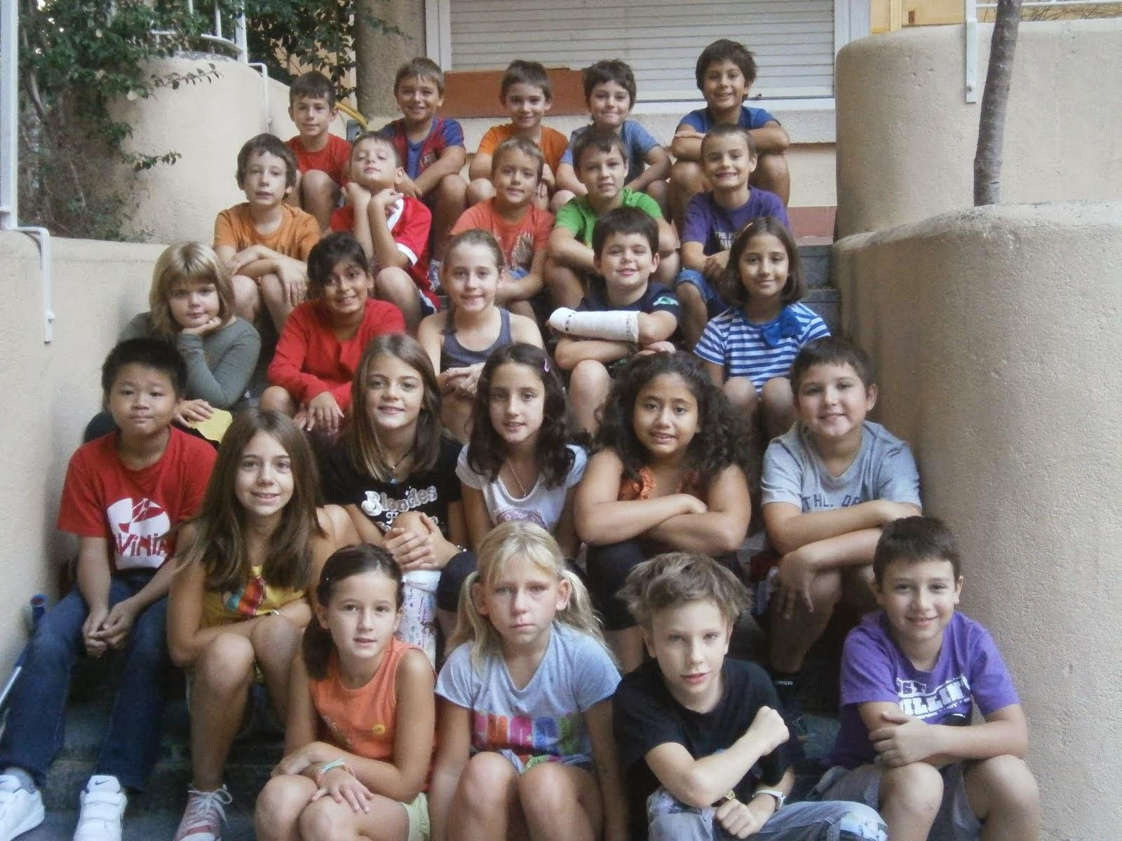 Els nens i nenes de 4t.