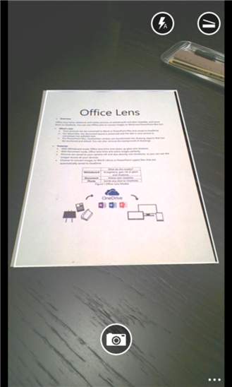Office Lens for Windows Phone 8.1