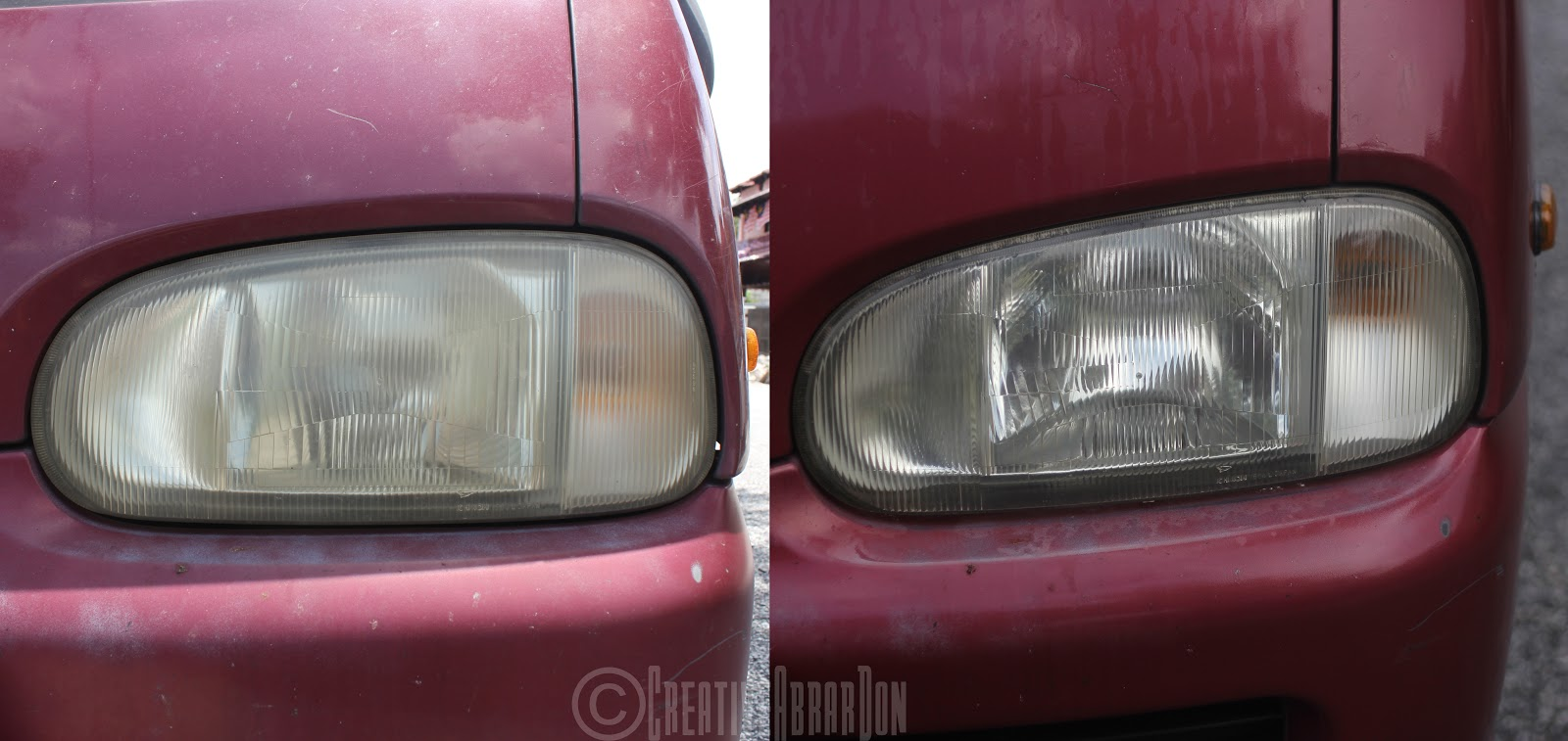 how to clean car lights