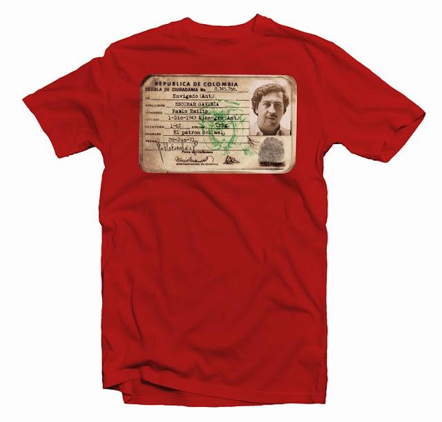 pablo escobar t shirt design