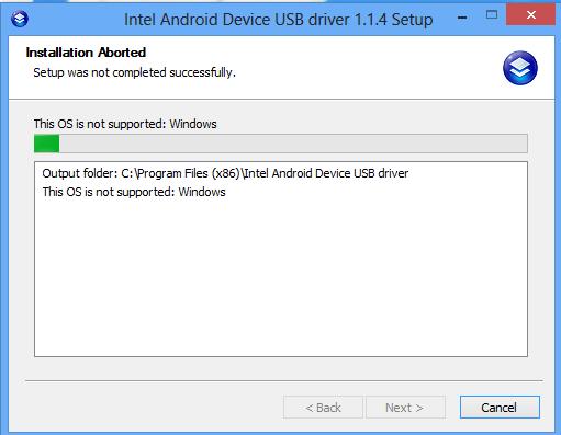 Error When Installling Intel USB Driver on Windows 8 | www.asus-zenfone.com