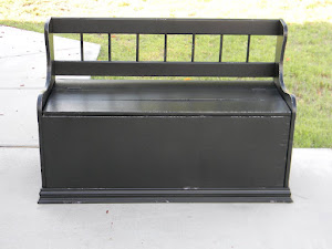 Black Storage Bench   *SOLD*