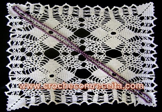 centros caminhos e toalhas de mesa em croche em croche com receita