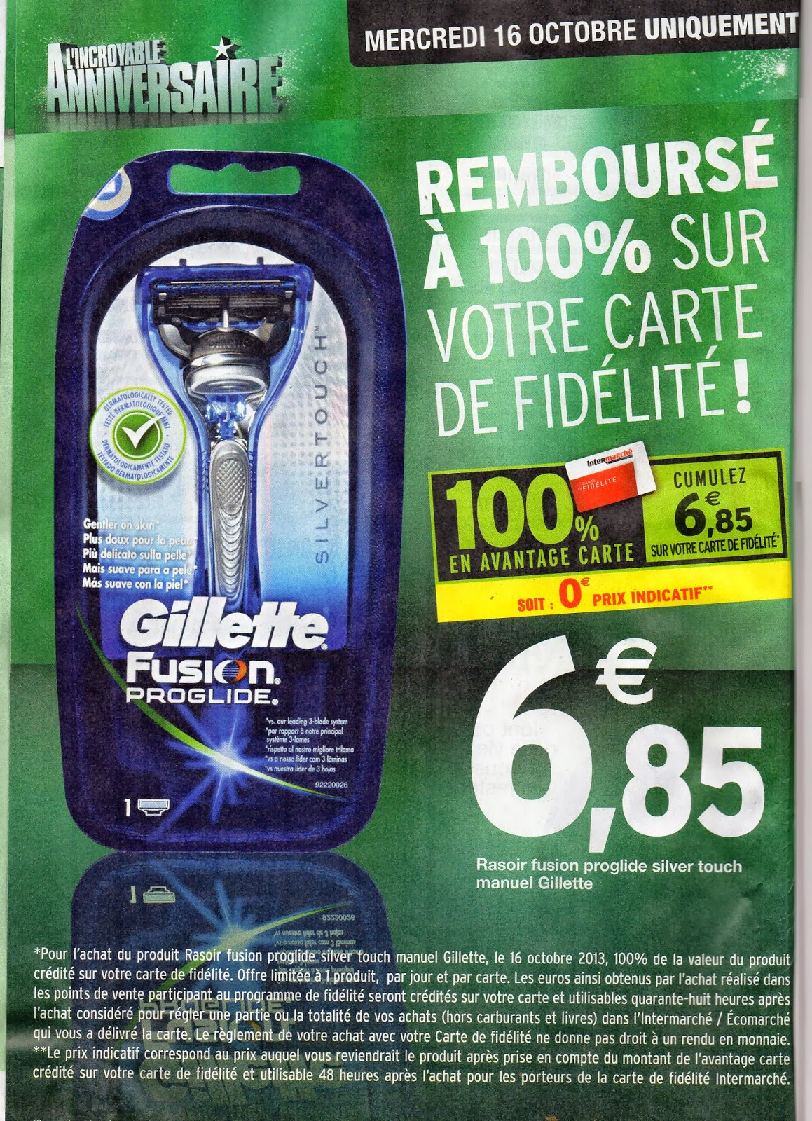 le blog des produits 100 rembours s gillette fusion proglide silver touch votre rasoir 100. Black Bedroom Furniture Sets. Home Design Ideas