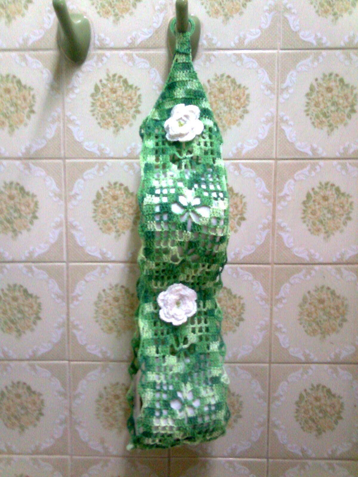 Organizador De Baño En Crochet: para tres rollos y el gris matizado es para dos espero que les guste