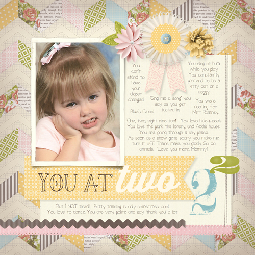 MDS Blog Hop: You At Two Scrapbook Page