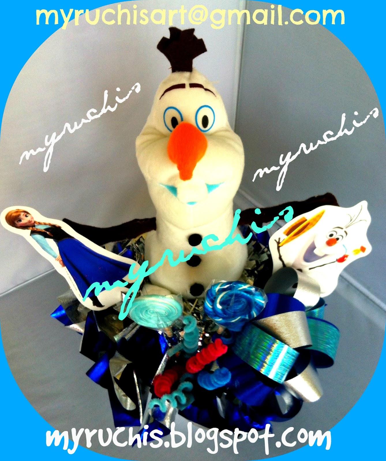 Fiesta frozen ideas centros de mesa olaf eventos sweet for Centros de mesa de frozen