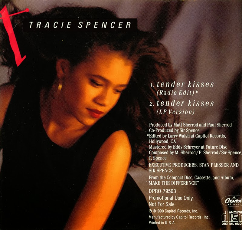 Tracie spencer tender kisses promo cd single 1990