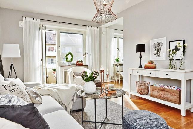 Arredare piccoli spazi con toni naturali home shabby for Arredare piccoli spazi cucina soggiorno