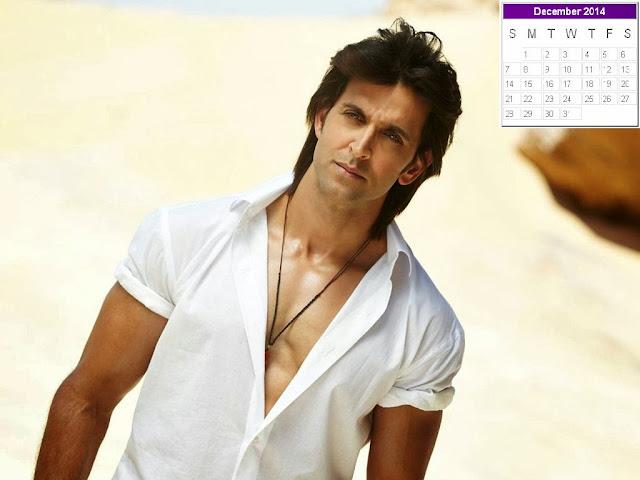 Hrithik Roshan Calendar 2014