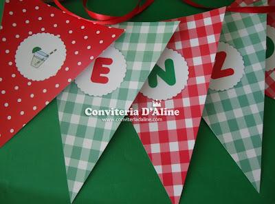 decoração festa picnic