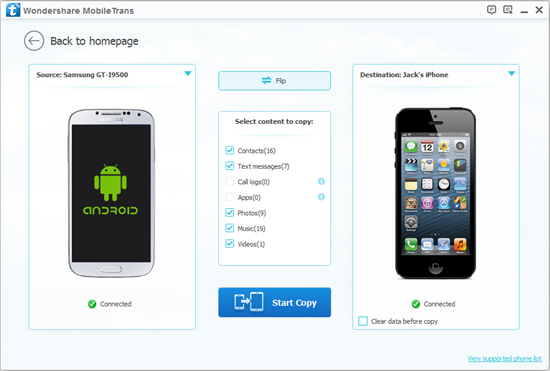how to transfer android plan to iphone