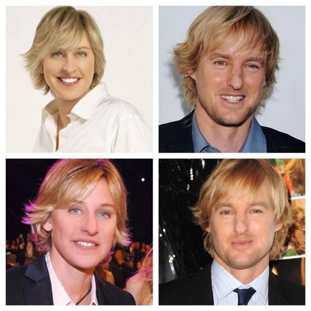 Ellen DeGeneres and Owen Wilson