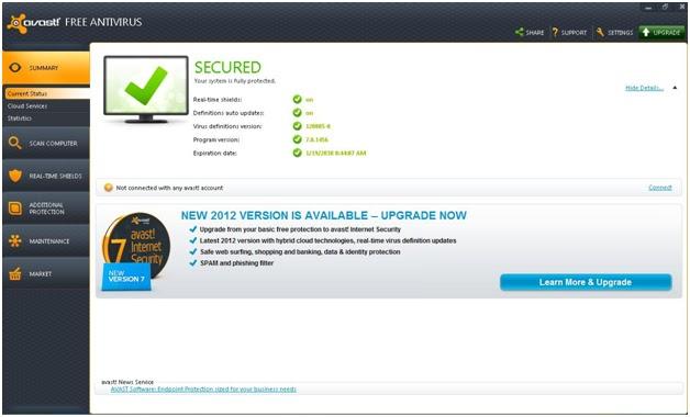 avast free antivirus 2038 serial key