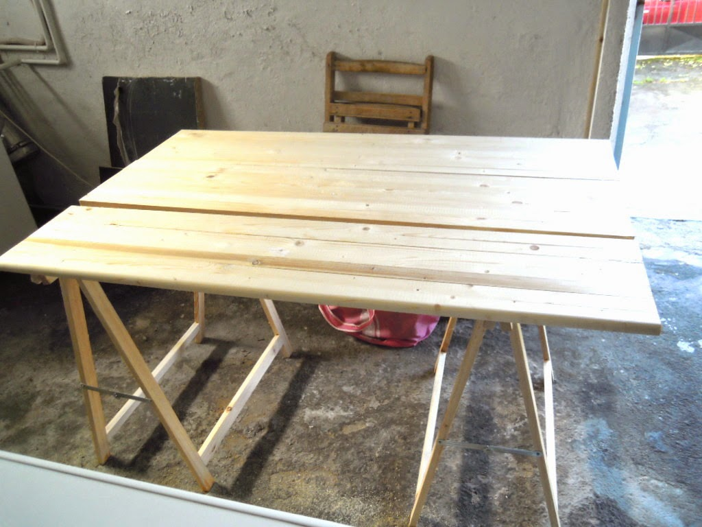 Caballetes para mesas conjunto caballetes profesional ca - Tablones de madera leroy merlin ...
