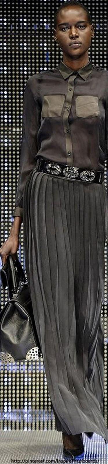 runway look: gorgeous grey Philipp Plein S/S 2014