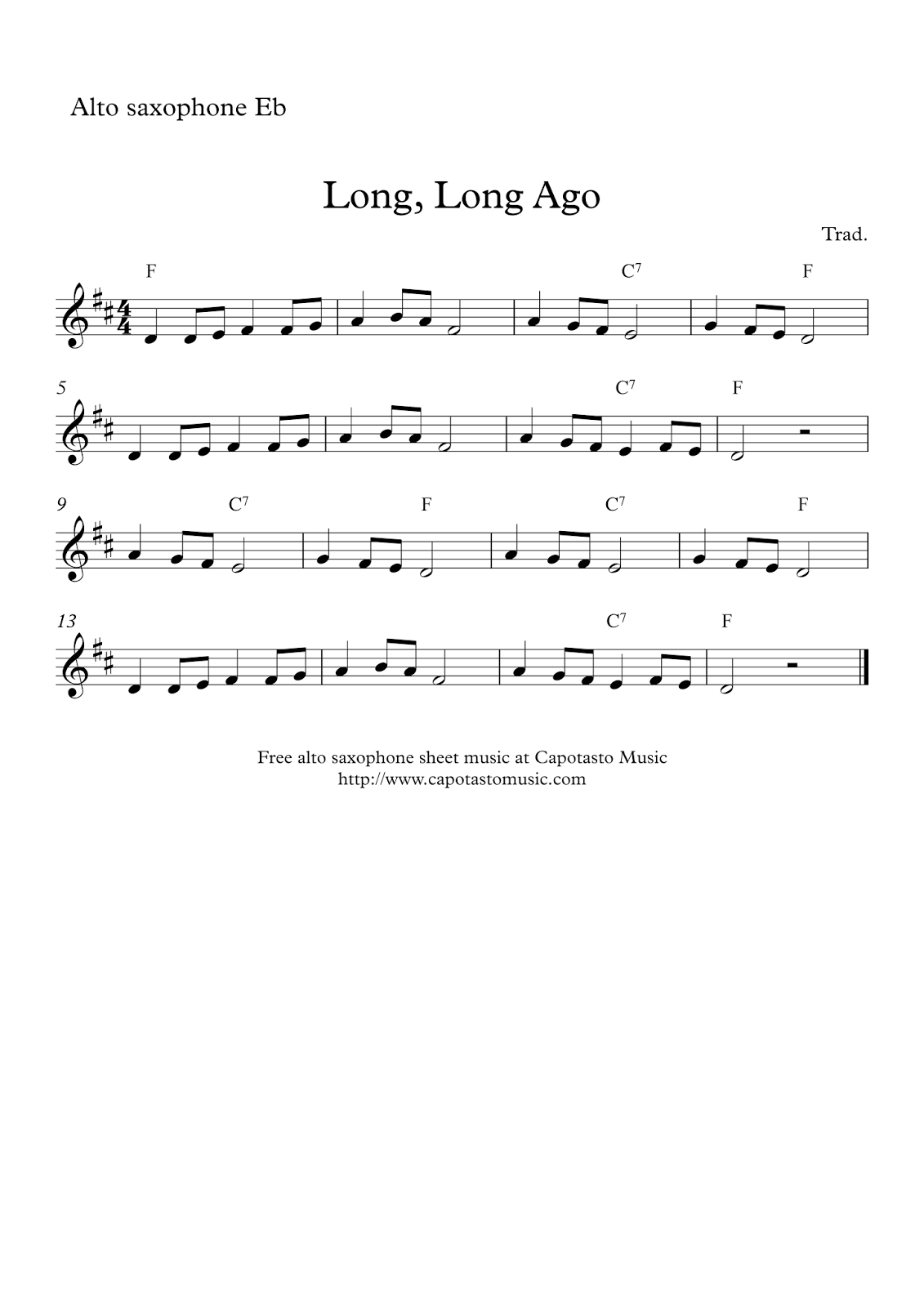 Dynamite image with free printable alto saxophone sheet music