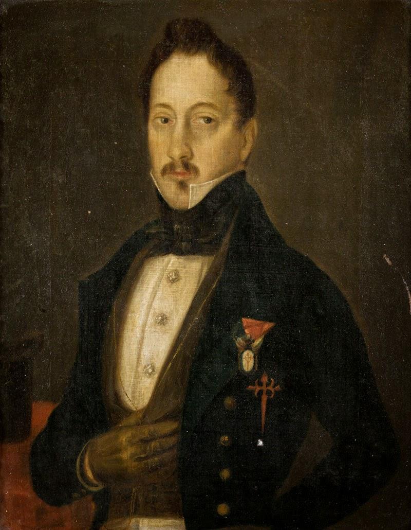 Orden de Santiago: Óleo caballero desconocido (s.XIX)