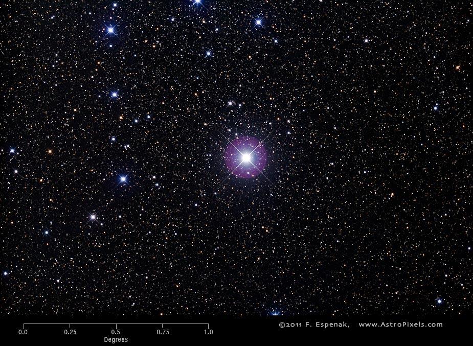 Ngôi sao Mirfak của chòm sao Perseus. Tác giả : Fred Espenak.