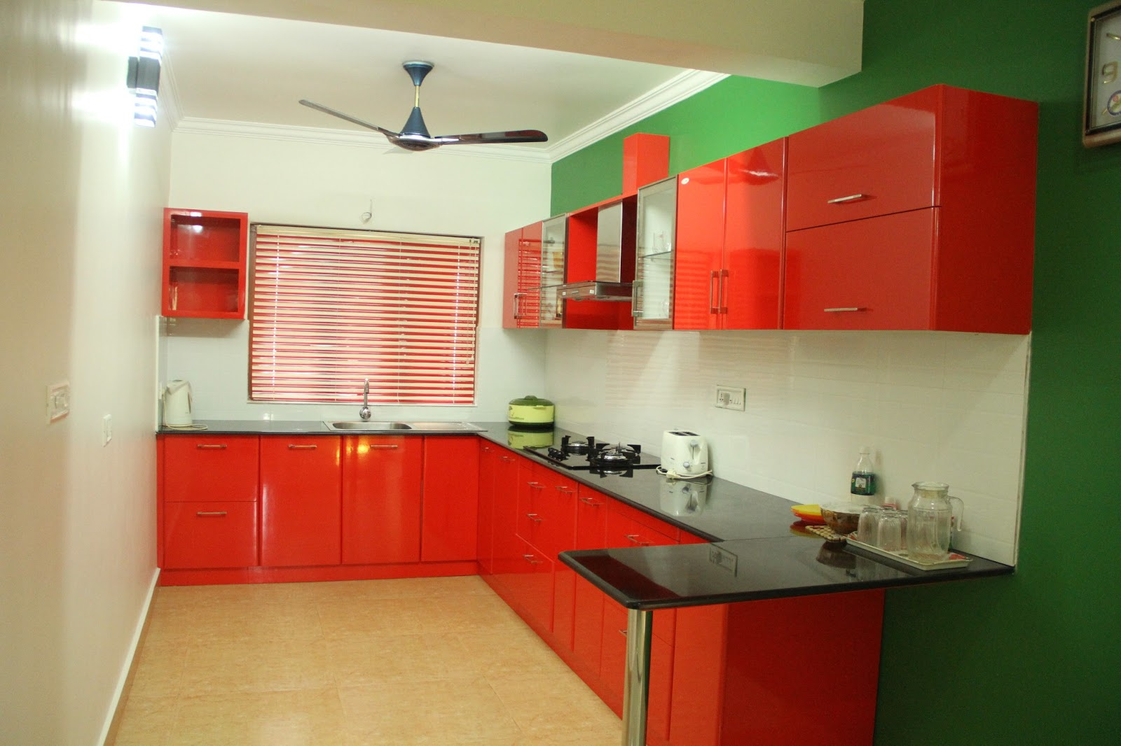 Multi Wood Kitchen Cabinets Kerala Interior Designdecorations And Wood Works