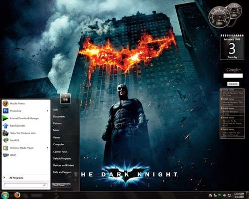 The Dark Knicht Windows 7 Theme