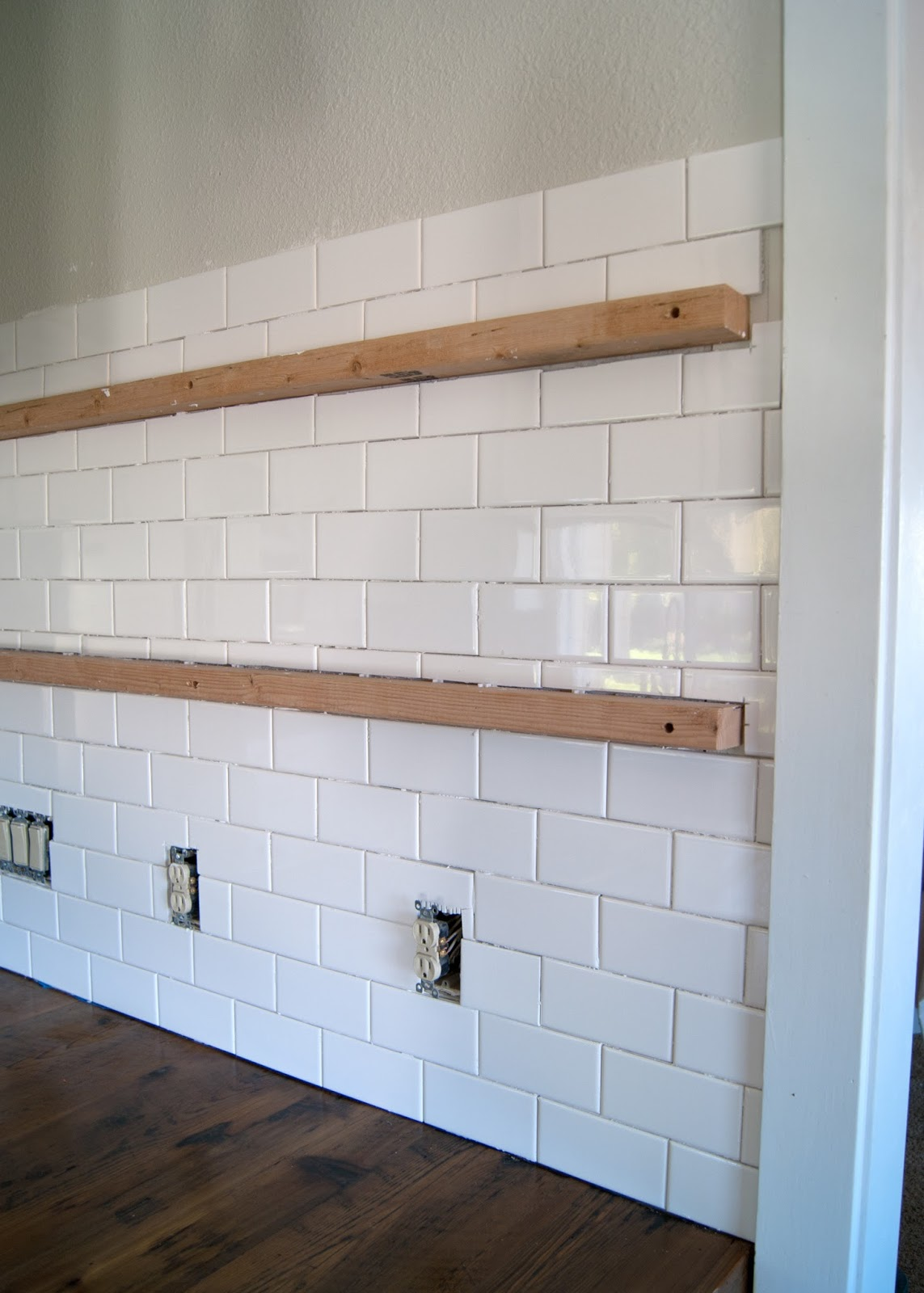 Subway tile installation + tips on grouting with Fusion Pro | Averie ...
