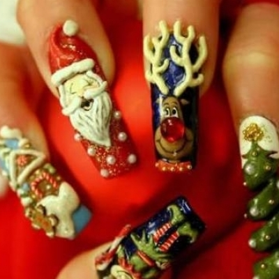 Christmas Nail Art Ideas -18