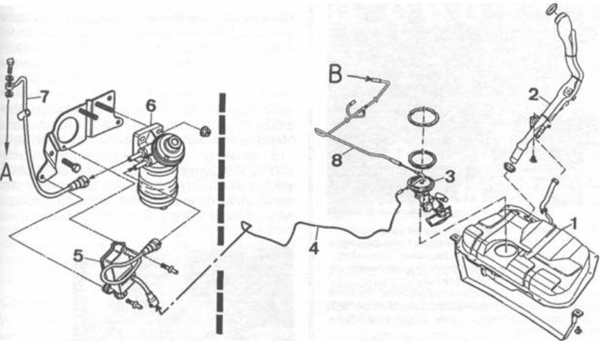uklad paliwowy mercedes 124 schemat
