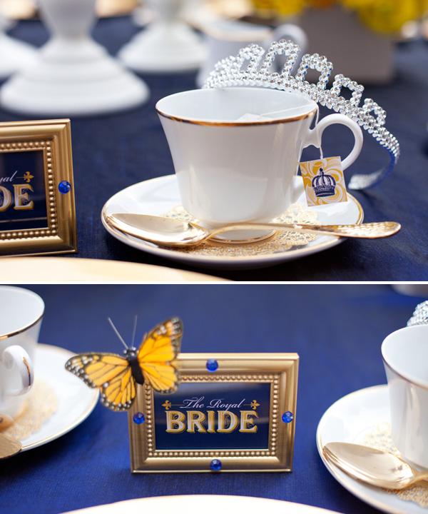 Royal Wedding Bridal Shower - Yellow and Blue Wedding Inspiration ...