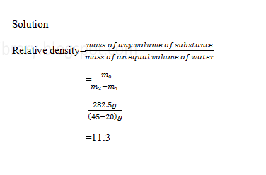 Physics density and relative density immersed in overflow can displaced water in a beaker of mass 20 gif the mass of water and the beaker was 45 gfind the relative density of the metal ibookread PDF